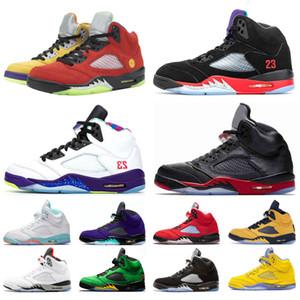 5 5S الرجال أحذية كرة السلة الجزيرة الخضراء البديل العنب الخفيفة أكوا النار الأحمر رجل مدرب الرياضة حذاء رياضة حجم 7-13