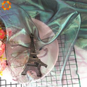 100cm * 150cm Iridescent Tulle Tissu Nappe Toiles de fond pour bricolage bébé Douche Thème mariage sirène Parti Tablecover Décorations CMAO #