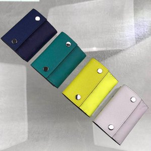 New 4 colors best quality genuinel leather mens wallet with box s s wallet womens wallet purse credit card holder