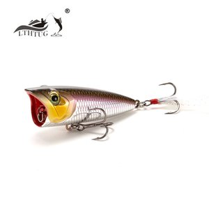 LTHTUG New Arrival Japanese Topwater Fishing Lure High Quality Hard Baits 60mm 8g Popper Bass Pike Baits Isca Artificial 201111