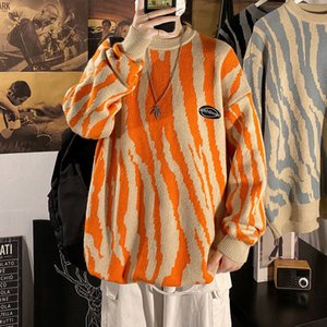Fashion Autumn New Sweater Lovers Wear Men's And Women's Zebra Print Pullover Hot Sale