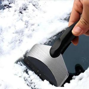 متعددة الوظائف المقاوم للصدأ الثلوج مكشطة الجليد سيارة الزجاج الأمامي الجليد إزالة أداة الشتاء نافذة الثلوج مزيل الثلوج إزالة مجرفة T9I00978