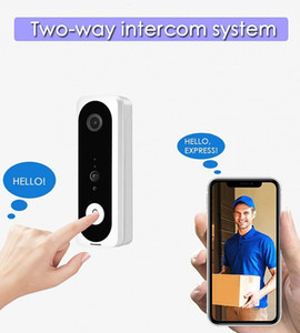 New 1pcs V20 Smart WiFi Video Doorbell Camera Visual Intercom With Chime Night Vision IP Door Bell Wireless Home Security Camera