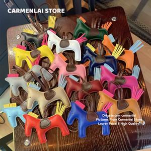 Moda PU Horse Bag Charms Toy Venta al por mayor Bolso Tote Dibujos animados Colgante de alta calidad Lindo Color aleatorio Animal Bolsas Piezas Accesorios