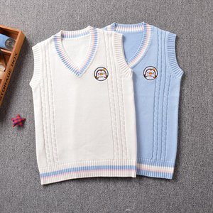 2017 new Cute Penguin baby embroidery college style Japan soft sister JK uniforms knitted vest Drop Shipping