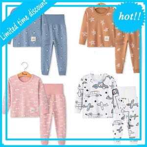 pyjamas 2Pc Long Mouwen Cartoon Children's night Baby girl's clothes Sleep Suits Herfst Katoen Child pajamas Boys'night
