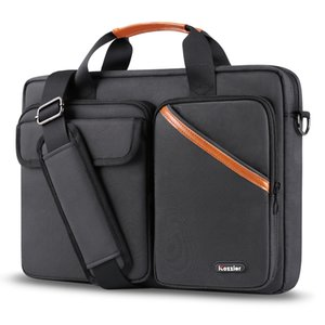 iCozzier 15.6 Inch Multi-pocket Laptop Sleeve Briefcase Large Capacity Shoulder Bag Electronic Accessories Organizer Case 201006