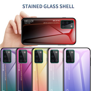 Slim Gradient Phone Cover Smooth Glossy Tempered Glass Case For Oneplus 8T One Plus Nord 8 Pro 7T 7 6T 6 5T 5