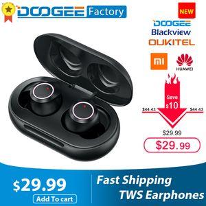Doogee Dopods TWS Fingerprint Touch Bluetooth 5.0 Wireless Earphone with Charging Box Intelligent Digital Headset