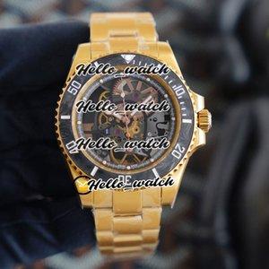 R Refit édition Andrea Pirlo Bezel Fibre Carbon Project Skeleton Dial Miyota automatique 116610 Mens Watch 18K Montres Bracelet en or jaune