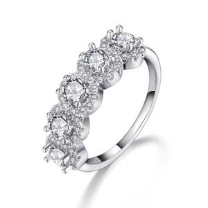 새로운 14 K 패션 사랑 약혼 반지 지르콘 링 도금 로즈 골드 다섯 스타 링 과장
