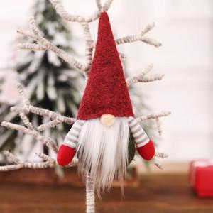 2020 Christmas Handmade Swedish Gnome Scandinavian Tomte Santa Nisse Nordic Plush Toy Table Ornament Xmas Tree Decoration