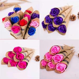 Rose Soapwort San Valentino Regali Delicati letteratura delicata Tre strati Soapflower Day della mamma Regalo Saponi profumati Saponi per lavare le mani 0 95dy O2