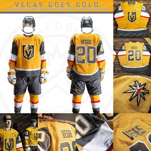 Mujeres Vegas Golden Knights 2020 Todo Oro tercer Jersey Marc-Andre Fleury Mark Stone Pacioretty Tuch Karlsson Lehner Reaves Smith Nosek Gusev