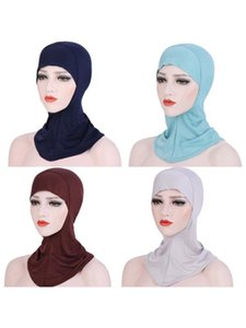Frauen Muslim Mini Hijab Cap Plain Unter Schal Voll Bonnet Innere Islamische Turban Hat Solid Color-Kopf-Verpackungs Halsteil