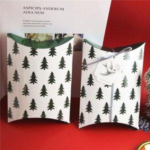 Feiluan магазин с биркой / 2 M ленты Елка CartonsPillow коробки Счастливые коробки конфет Возврат Полнолуние подарков Первое Рождество Wrappin YUEN #