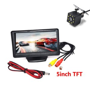 "BYNCG Car Rear View Camera Reversing Parking System Kit 5"" inch TFT LCD Rearview Monitor Waterproof Night Vision Backup Camera"