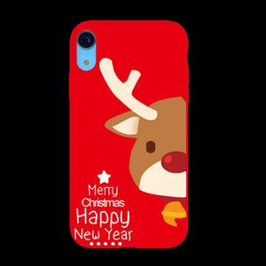 Christmas Silicone Phone Case Christmas Frosted TPU Painted Phone Case For Iphone x xs xsmax 8 Styles OWB2360