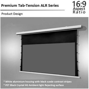 16:9 Electric motorized tabtension projection screen for long throw projector ALR screen on the wall1