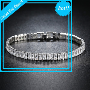 2021 New Luxury Princess 925 Sterling Silver Bracelet for Women Anniversary Poison Jewelry Wholesale Moonso S5776