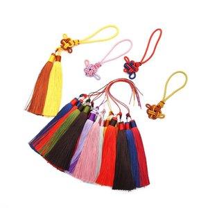 1set Pack Polyester Borla Fringe Trim con 12 cm Tassels de seda de algodón para decoración de bodas Hecho a mano DIY Cortinas de costura Accesorios H BBYNZO