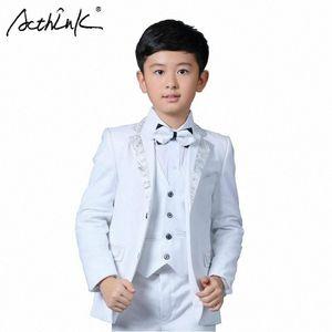 Acthink New Boys Blazer Blazer Boda Marca Niños 4pcs Traje formal con Bowtie Flower Boys Party Tuxedos Traje de vestuario, C269 N5EJ #