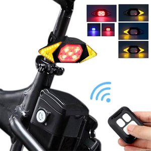 USB Rechargeable Bicycle Turn Signal Wireless Remote Control Bike Tail Light Safety Warning Bike Steering Riding Light