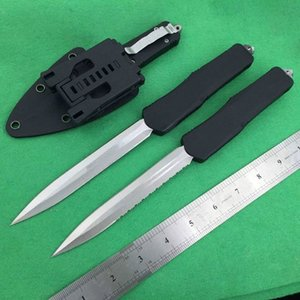 A07 plus long D E blade double action 3 models Hunting autotf knife folding fixed blade Pocket Knifes Survival Knives Xmas gift