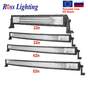"""7D Cuved 22 32 42 50 52"""" inch 540W Offroad LED Work Light Bar for Tractor Boat 4WD 4x4 Car Truck SUV ATV"""