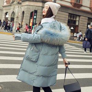 MUJERES DE LUJO 2020 Tamaño con capucha caliente Casual Outwear Outwear MiegoFce Piel Abrigos largos Chaquetas Top Plus Blue Brands Flow LRFFH