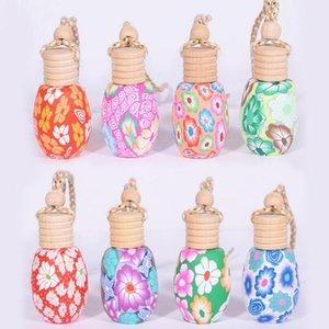 10ml-15ml handmade polymer clay essence oil Perfume bottle Hand Drawing Bottles Car hang decoration