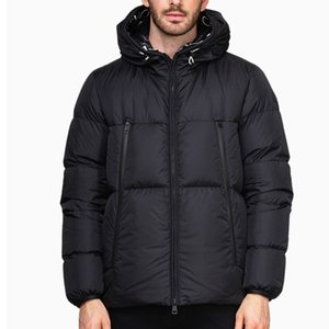 Мужчины зимняя куртка пальто ветровка белая утка вниз толстые теплые с капюшоном высокое качество парку пигубку куртка пиджака вышивка зимняя куртка
