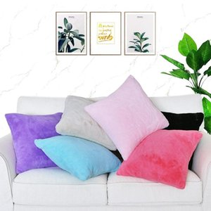 Free Shopping Custom 40 45 50 55 60 65cm 6 Colors 100% Polyester Hair Fur Cushion Cover HT-PRHFC-A