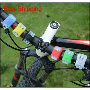 Bicycle Cycling Lamp Silicone Bike Head Frog Light Rear Wheel Led Flash Bicycle Light Lamp Bike Taillight Tail Lamp Zza648 5Cefw