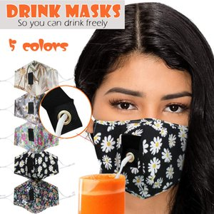 new Women Man Color Anti-dust Reusable Face Adult Cover Masks For Drinks Straw Mouth Mask Accessories Facemaska Mascarillas