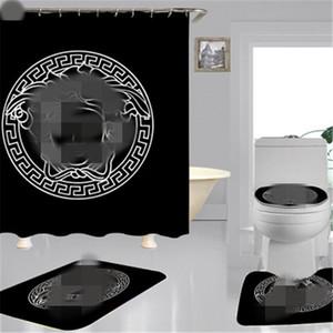 남여 높은 품질의 샤워 커튼 방수 및 다기능 폴리 에스테르 샤워 커튼 새로운 도착 욕실 용품 무료 배송