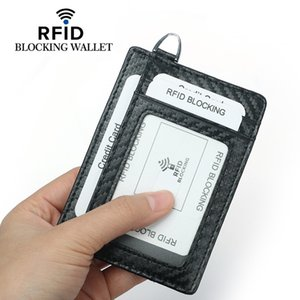 Hot selling new carbon fiber RFID multi card bag multi function work card cover