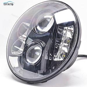 7 inç 80 W LED Far E9 Onaylı H4 Arabirimi 4x4 Off Road Supper Parlak Lamba 97-15 Wrangler1 için Yüksek / Düşük Işın ile