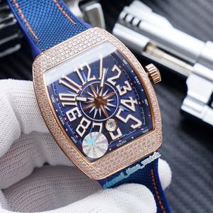 K de alta qualidade NOVO SARATOGE V45 SC DT YACHTING 5N Rosa do diamante de ouro Data Dial Miyota Automatic Mens Watch Couro Strap Esporte Relógios