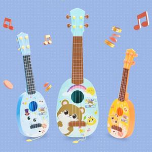 الحجم المتوسط أزياء آلات موسيقية هدية البسيطة محاكاة غيتار 4 سلسلة الممارسات لعبة اطفال الموسيقى القيثارة طفل هدايا