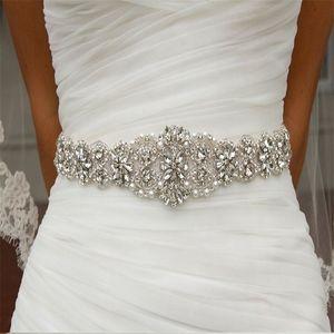 JLZXSY Flower Style Wedding Belt Bridal Sash Belt Crystal Rhinestone Dress Sash Prom Sash Wedding Accessories (18x2.2inches) Y200501