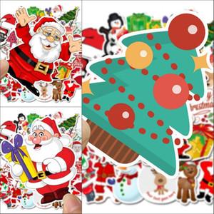 Graffiti Aufkleber Zimmer Wasserdichte Aufkleber Karikatur-glückliche Weihnachtsdekorationen Aufkleber Blumen-Schneemann-Weihnachtsmann Nein Repetition 4 5SL G2