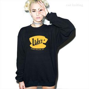 Lukes Diner Hoodie Gilmore Girls Sweatshirts Women Lukes Jumpers Stars Hallow Lorelai Rory Lane Hooded Pullover Sweatershirt