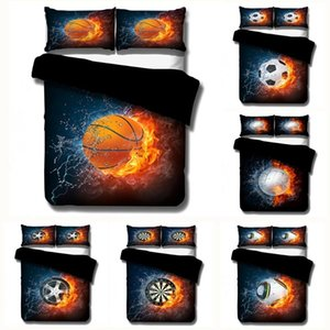Home Textile 3D Printing Sport Basketball football Bedding Sets Duvet cover set Bedclothes kids Boy Gift Queen king size 2 3Pcs