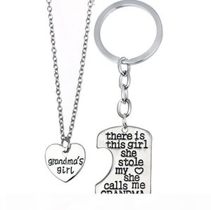 K Best Gift Girl Stole Heart Mommy Daddy Series Mother &#039 ;S Day Father &#039 ;S Day Necklace Key Chain Wfn017 (With Chain )Mix Orde