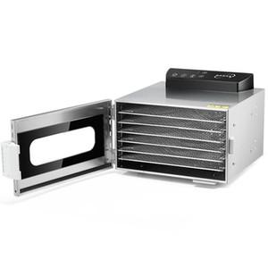 Elettrico 6 vassoi snack Dehydrator asciugatura macchina Frutta Verdure disidratazione macchina in acciaio inox carne Dryer