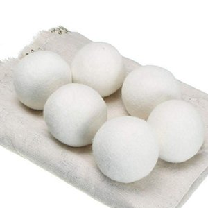 Wool Dryer Balls Premium Reusable Natural Fabric Softener 2.76inch Static Reduces Helps Dry Clothes in Laundry Quicker Free DHL DHD2591
