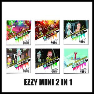 100% originale Rick Morty Ezzy 2 in 1 Design elettronico Design Elettronico VAPE 800MAH Batteria 6.8ml POD POD 1800 BUFFS EZZY Mini 2in1 Vapes