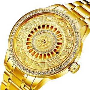 2020 Charme Golden Diamonds Montres Hommes Full Steel Fashion Designer Mécanique Montre Montre Automatique Date Horloge Homme Coffrets cadeaux