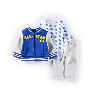 Fashion Baby Boy Winter Casual Baby Girl Clothing Sets Children Suit bodysuits+Sports pants Autumn Kids Clothes Set Q0105